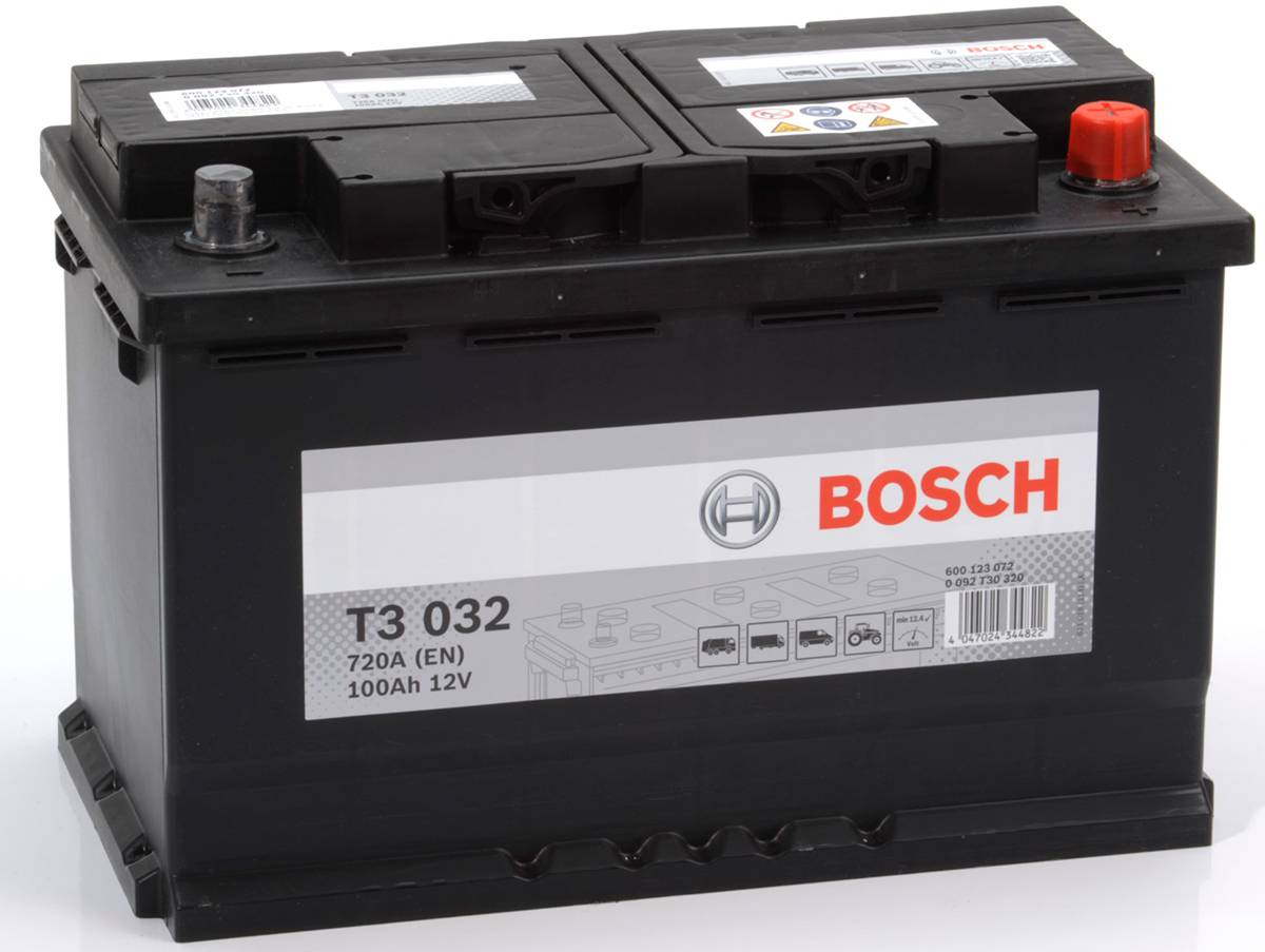batteria bosch s4 12v 100 ah 720 a en positivo a dx t3032 313x175x190 ebay. Black Bedroom Furniture Sets. Home Design Ideas