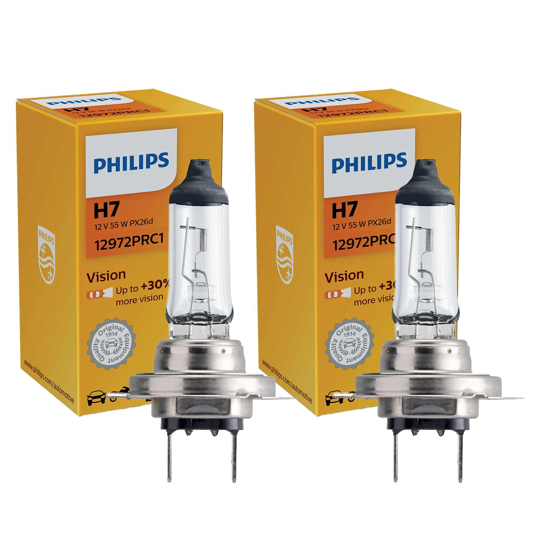 30/% Di Luce 12972PRC1 N4 Lampade Lampadine Alogena H7 12V 55W Philips Vision